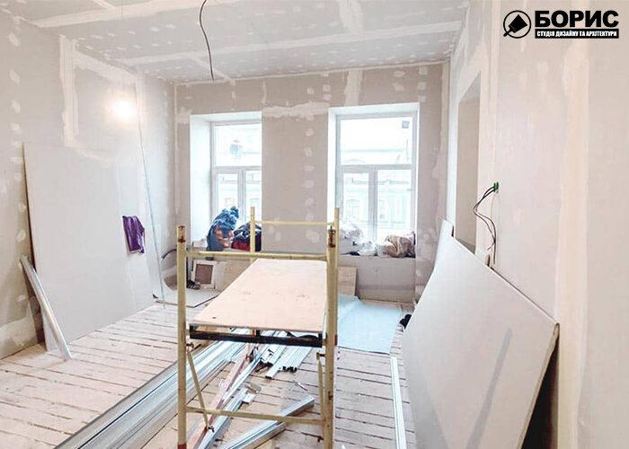 Основная отделка комнаты в квартире.