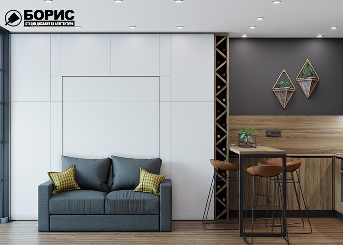 Дизайн квартири в Харкові, студія