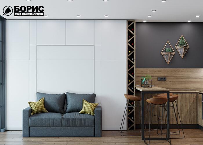 Дизайн квартиры в Харькове студия