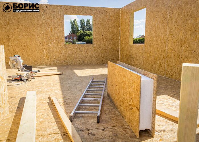 Процес будівництва будинку з сіп панелей в Харкові.