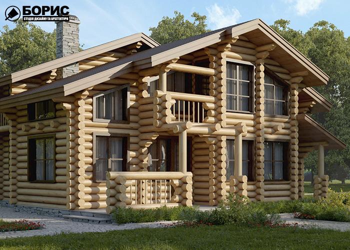 Деревянный дом в Харькове