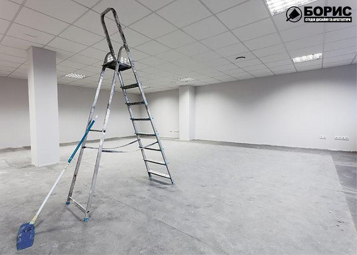 Завершающая стадия ремонта офиса в Харькове.