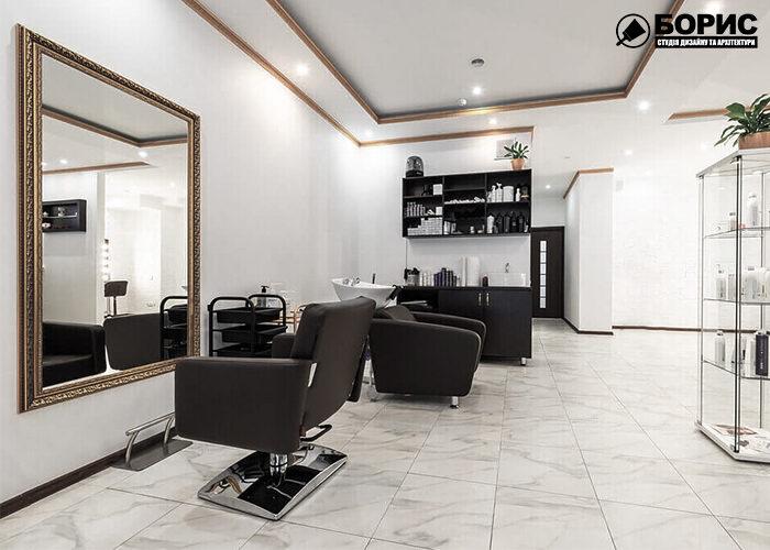 Большое помещение парикмахерской после ремонта в Харькове.