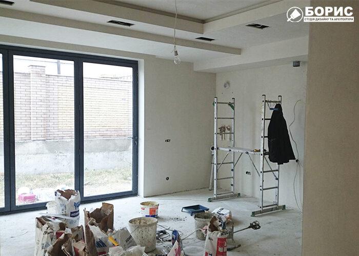 Передпокій в процесі ремонту - приватний будинок Харків.