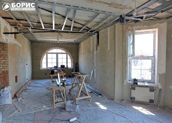 Початкова стадія ремонту в елітній квартирі в Харкові.