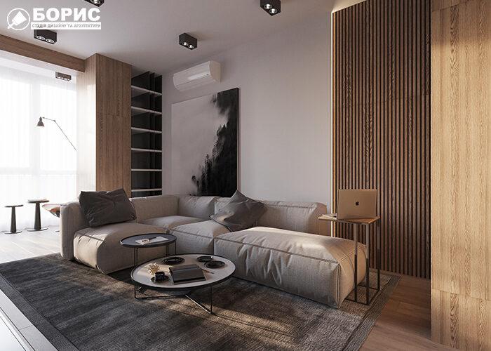 Готовый ремонт элитной квартиры с мебелью в Харькове.