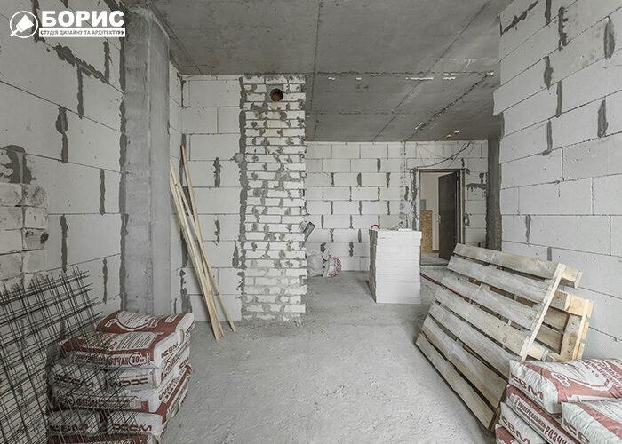 Початкова стадія ремонту квартири під ключ у Вишгороді.
