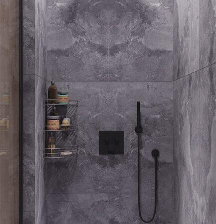 Дизайн-проект квартири по вул. Семінарській, ванна вид на душову кабіну