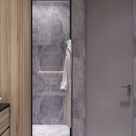 Дизайн-проект квартири по вул. Семінарській, ванна вид ліворуч