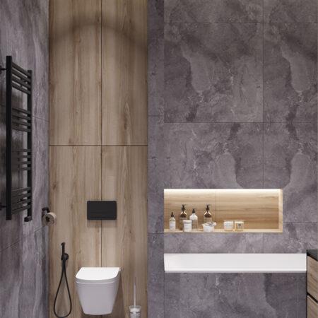 Дизайн-проект квартири по вул. Семінарській, ванна вигляд правої сторони