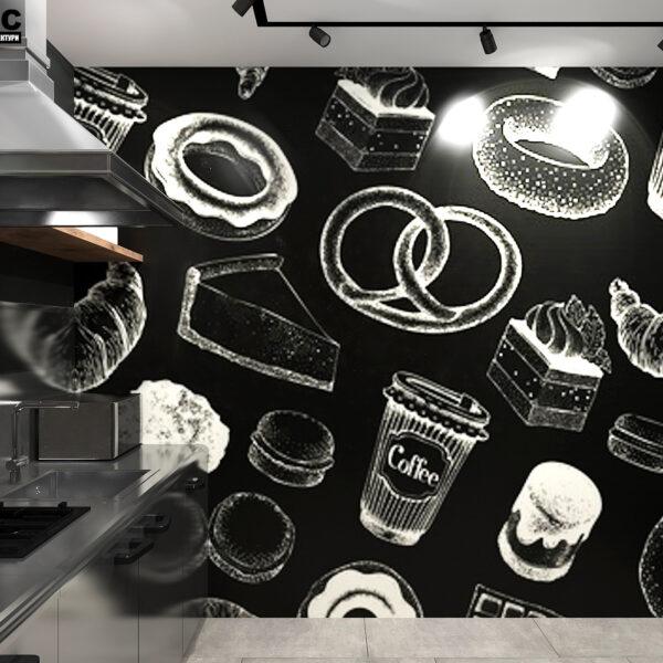 Дизайн-проект інтер'єру кав'ярні, вид на робочу зону