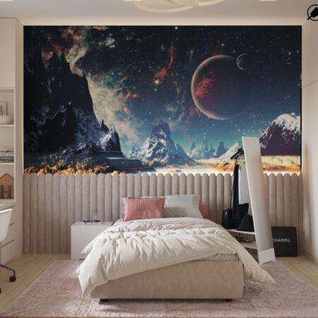 Дизайн-проект квартири по вул. Семінарській, дитяча вид на ліжко по центру