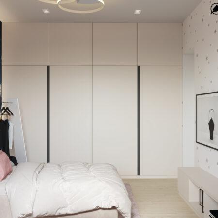 Дизайн-проект квартиры по ул. Семинарской, детская вид справа