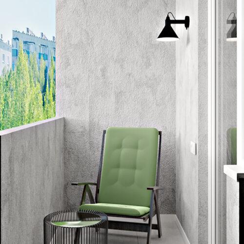 Дизайн-проект інтер'єру квартири «ЖК Левада 2», балкон з правої сторони