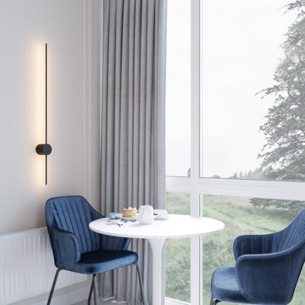 Дизайн интерьера квартиры ЖК «Гидропарк», лоджия вид под углом