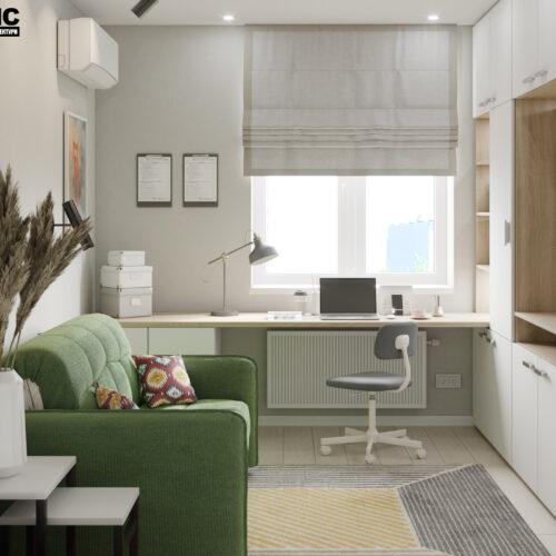 Дизайн-проект интерьера квартиры «ЖК Левада 2», детская вид на окно