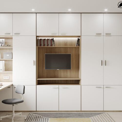 Дизайн-проект интерьера квартиры «ЖК Левада 2», детская вид на стенку