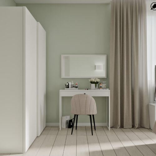 Дизайн-проект інтер'єру квартири «ЖК Левада 2», спальня з видом праворуч