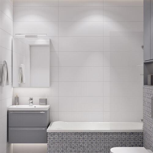 Дизайн-проект інтер'єру квартири «ЖК Левада 2», санвузол з видом по центру