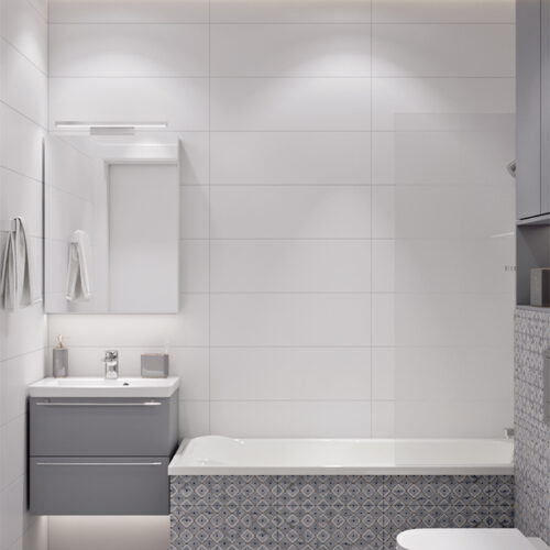 Дизайн-проект интерьера квартиры «ЖК Левада 2», санузел вид по центру