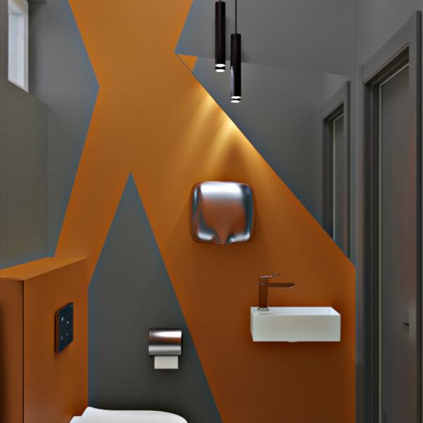 Дизайн-проект фастфуду, санвузол вид на сушарку