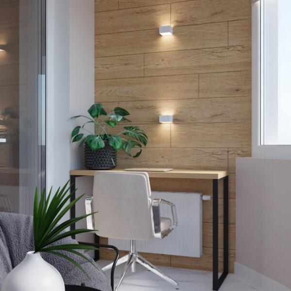Дизайн інтер'єру квартири ЖК «Інфініті» .кабінет вид на робочу зону