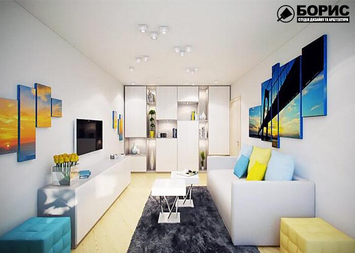Дизайн інтер'єру квартири в чешці вид на передпокій