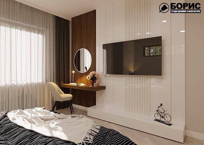 Ремонт дома, спальня в доме
