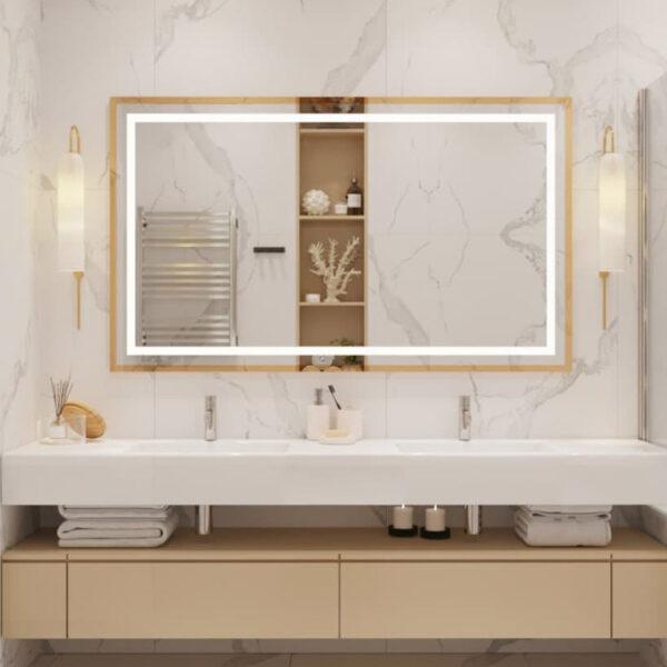 Дизайн интерьера квартиры ЖК «Инфинити», санузел вид на зеркало,