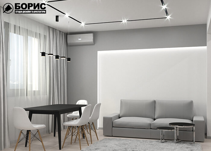 Ремонт однокімнатної квартири вітальня