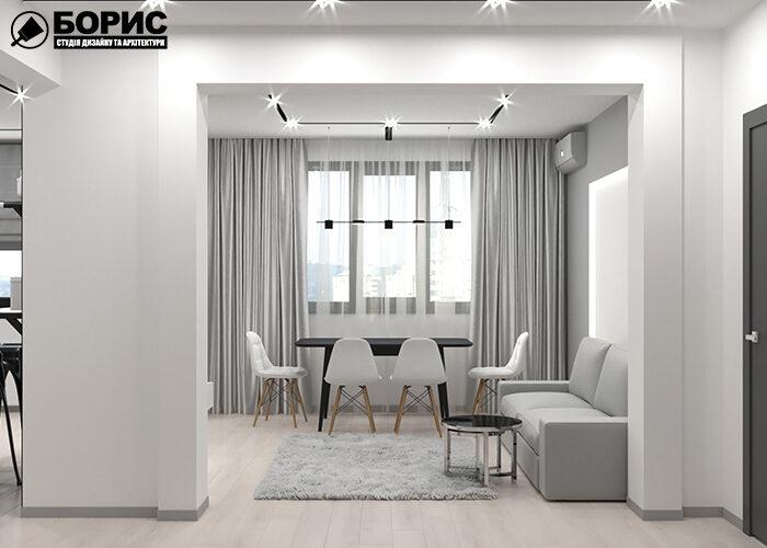 Ремонт однокомнатной квартиры, гостиная