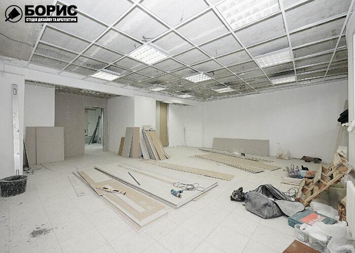 Ремонт офиса на начальной стадии