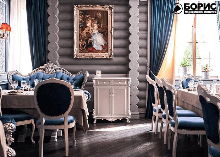 Дизайн интерьера ресторана, в классическом стиле