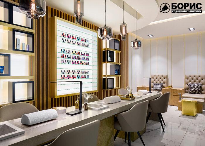 Ремонт салона красоты, парикмахерской вид на рабочую зону