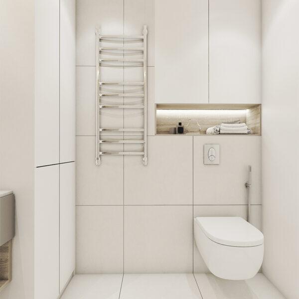 Дизайн інтер'єру квартири ЖК «Пташка», санвузол вид на сушарку для рук