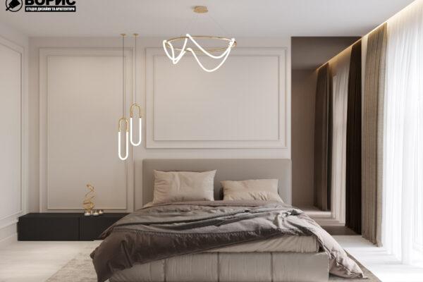 Дизайн интерьера квартиры ЖК «Гидропарк», спальня