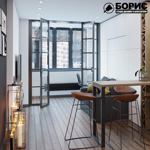 Как сделать экономный ремонт, зона приема пищи в квартире студии