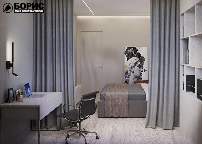 Ремонт трикімнатної квартири, спальня