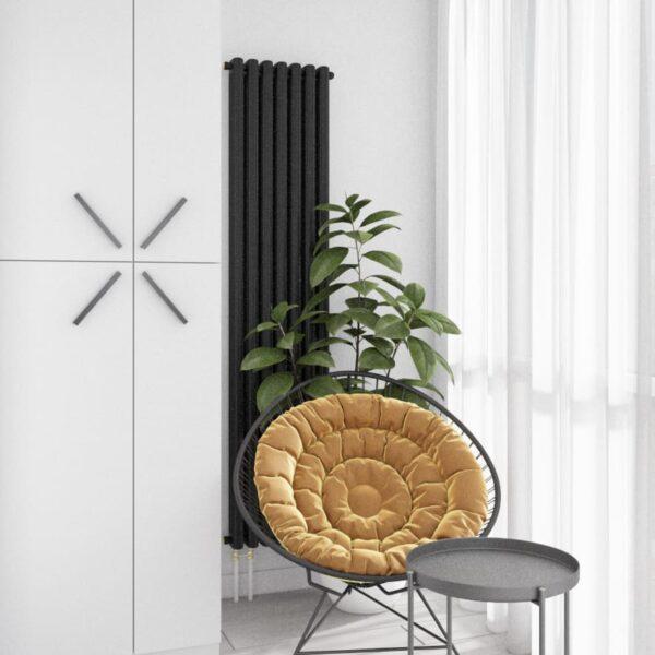 """Дизайн-проект інтер'єру однокімнатної квартири ЖК """"Лазурний"""", лоджія з видом на зону відпочинку"""