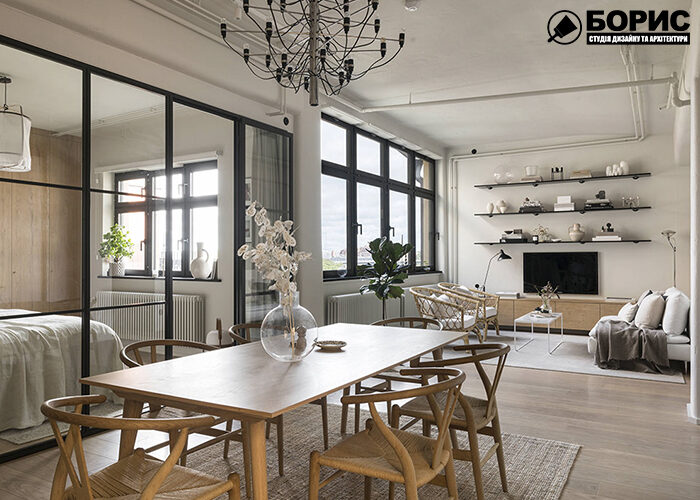 Дизайн-проект, столова з великим столом