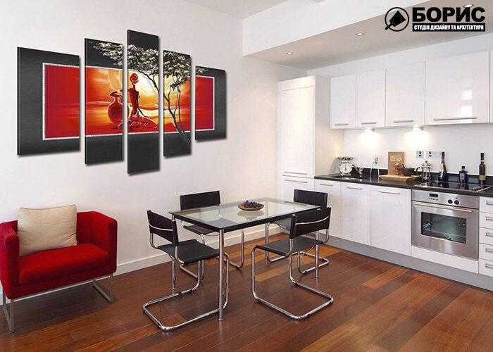 Дизайн квартиры модульные картины