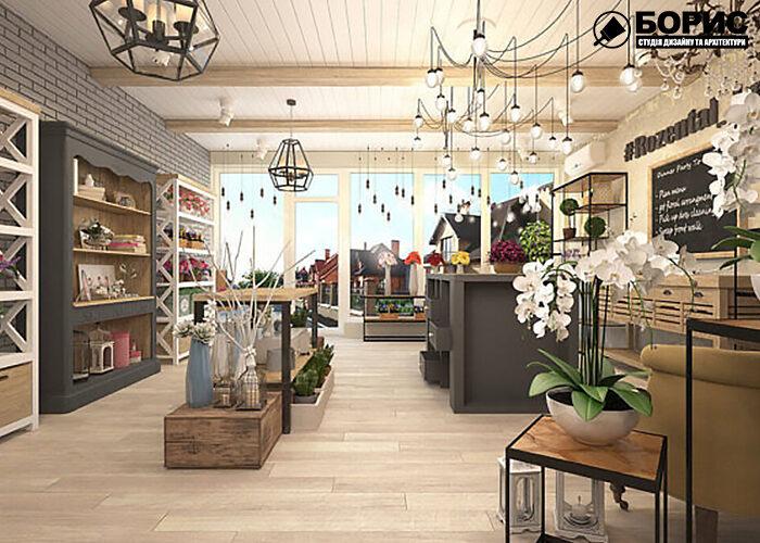 Дизайн інтер'єру комерційного, торгового приміщення, магазин