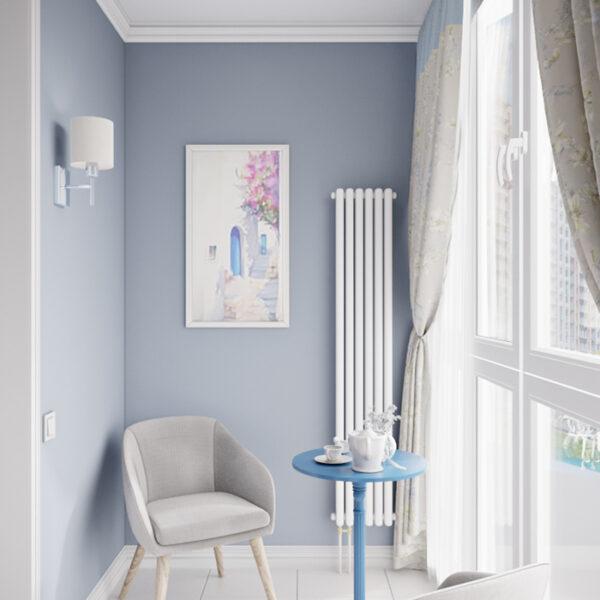 """Дизайн-проект интерьера квартиры ЖК """"Лазурный"""", лоджия вид с левой стороны"""