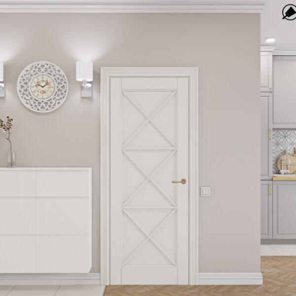 """Дизайн-проект интерьера квартиры ЖК """"Лазурный"""", прихожая вид на двери"""