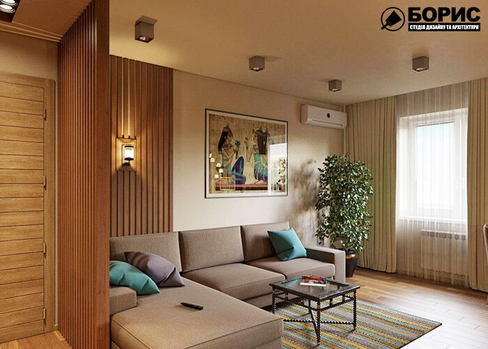 Дизайн помещений в популярных стилях, гостиная фото №1