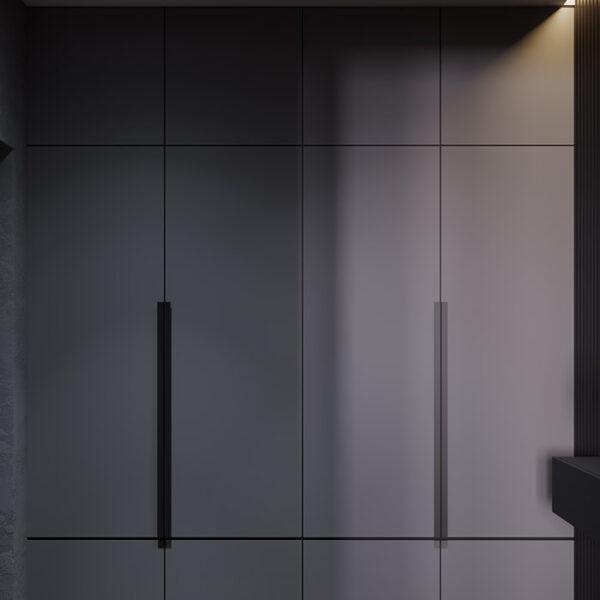 Дизайн-проект интерьера квартиры ЖК «Московский», прихожая вид на шкаф