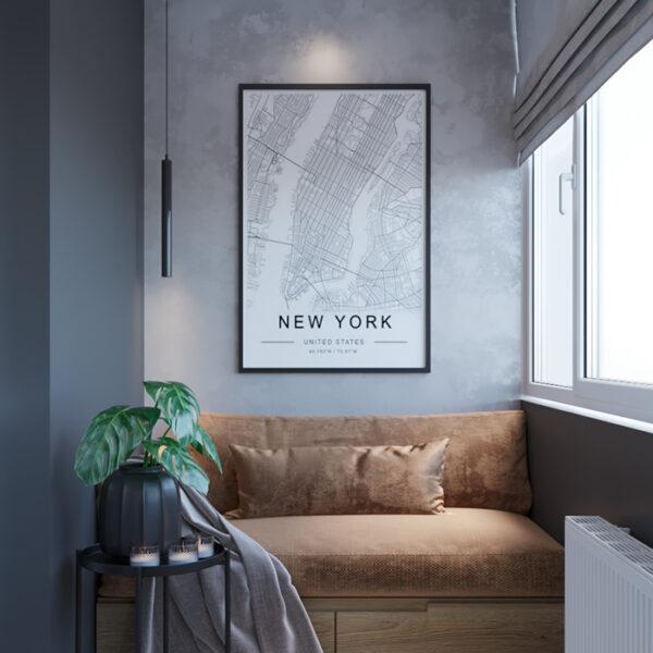 """Дизайн-проект интерьера квартиры ЖК """"Сказка"""", лоджия вид на зону отдыха левая сторона"""