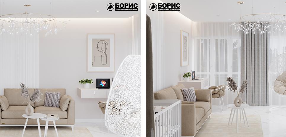 Дизайн домов, коттеджей и таунхаусов, гостиная и кухня