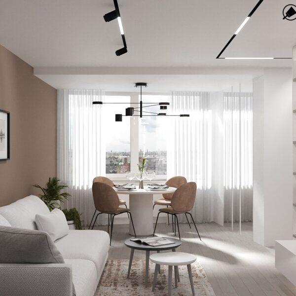 Дизайн-проект интерьера квартиры по улице Полтавский Шлях, прихожая с видом на окно