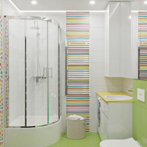 Дизайн-проект интерьера квартиры по пр. Науки, санузел с видом на душевую кабинку